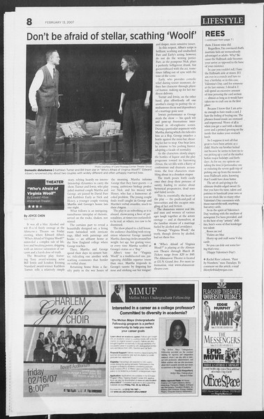 Daily Trojan, Vol. 160, No. 24, February 13, 2007