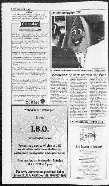 Daily Trojan, Vol. 124, No. 35, March 07, 1995