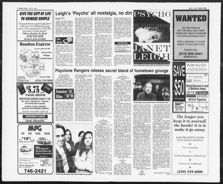 Summer Trojan, Vol. 125, No. 5, June 14, 1995