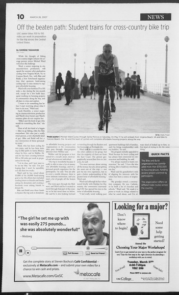 Daily Trojan, Vol. 160, No. 44, March 26, 2007