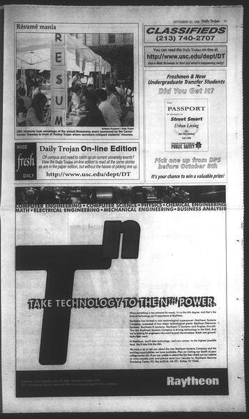 Daily Trojan, Vol. 135, No. 19, September 30, 1998