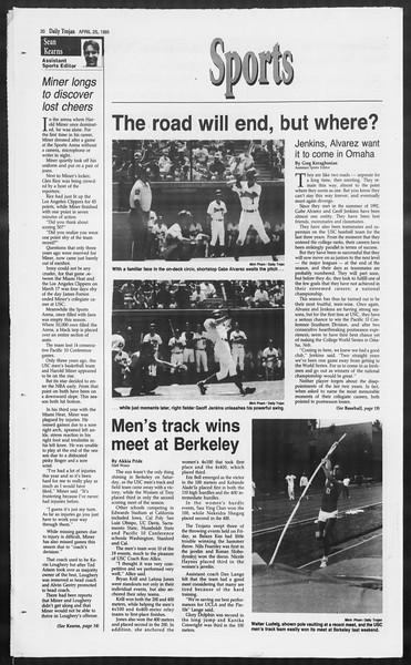 Daily Trojan, Vol. 124, No. 65, April 25, 1995