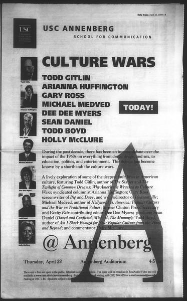 Daily Trojan, Vol. 136, No. 60, April 22, 1999