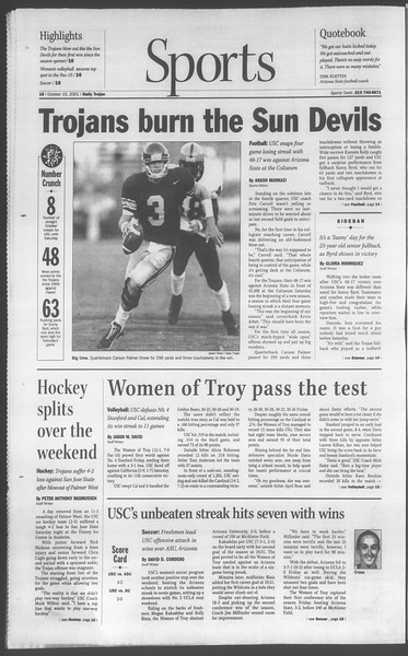 Daily Trojan, Vol. 144, No. 33, October 15, 2001
