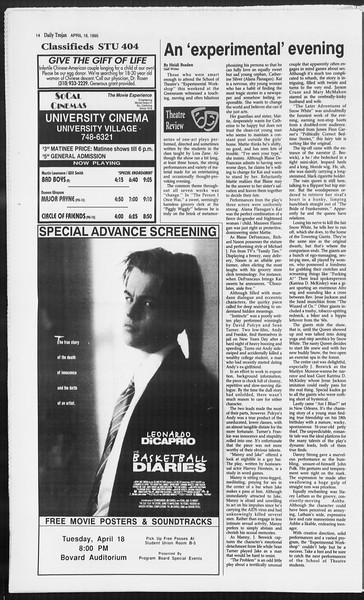 Daily Trojan, Vol. 124, No. 59, April 18, 1995