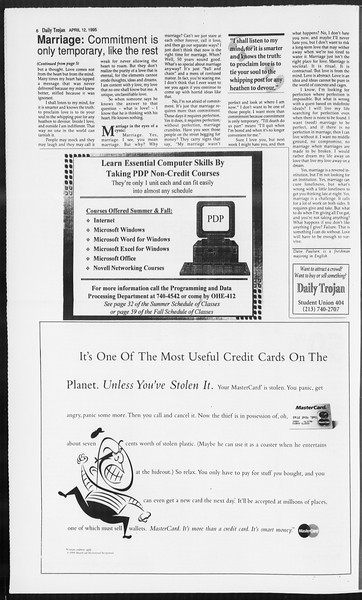 Daily Trojan, Vol. 124, No. 55, April 12, 1995