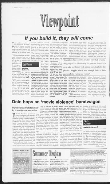 Summer Trojan, Vol. 125, No. 10, July 19, 1995