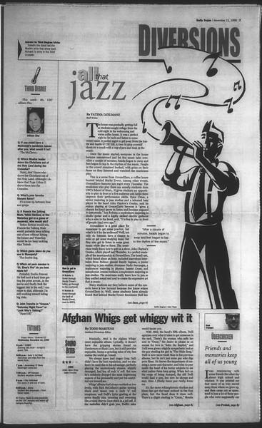Daily Trojan, Vol. 135, No. 48, November 11, 1998