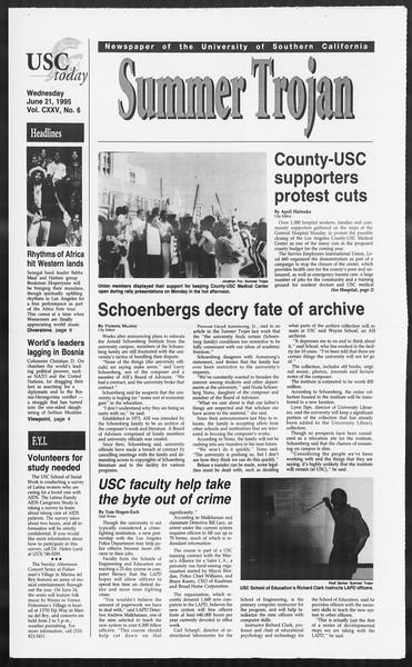 Summer Trojan, Vol. 125, No. 6, June 21, 1995