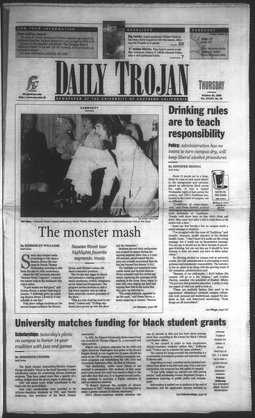 Daily Trojan, Vol. 135, No. 40, October 29, 1998
