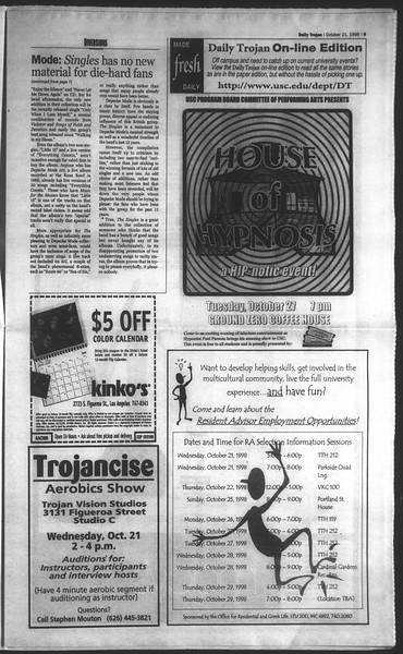 Daily Trojan, Vol. 135, No. 34, October 21, 1998