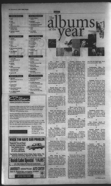 Daily Trojan, Vol. 135, No. 63, December 08, 1998