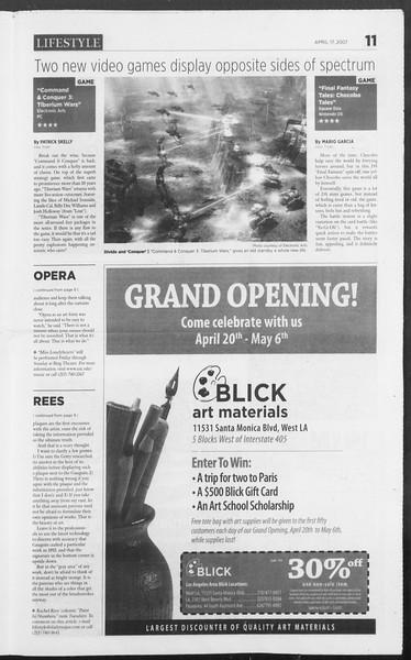 Daily Trojan, Vol. 160, No. 60, April 17, 2007