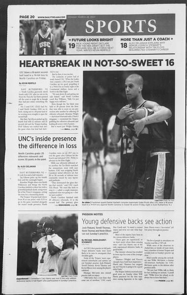 Daily Trojan, Vol. 160, No. 44, March 26, 2007
