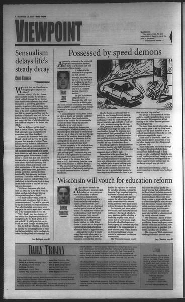 Daily Trojan, Vol. 135, No. 49, November 12, 1998
