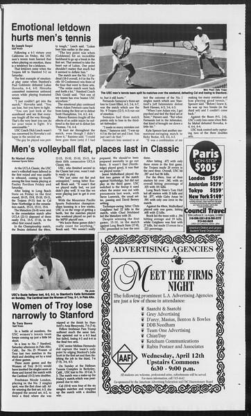 Daily Trojan, Vol. 124, No. 53, April 10, 1995