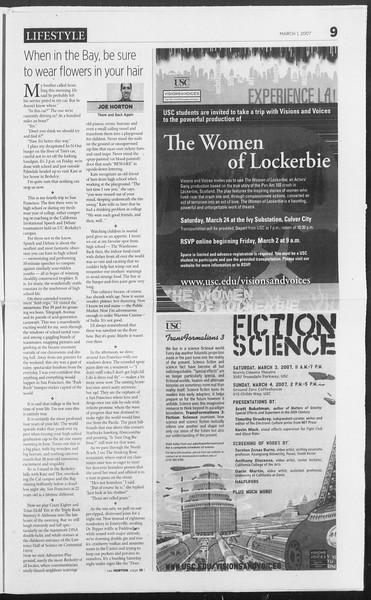 Daily Trojan, Vol. 160, No. 34, March 01, 2007