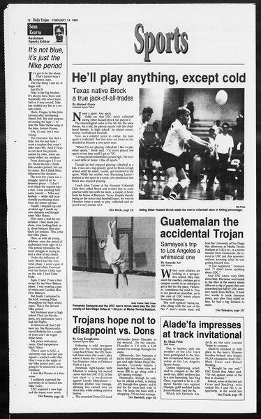 Daily Trojan, Vol. 124, No. 22, February 14, 1995