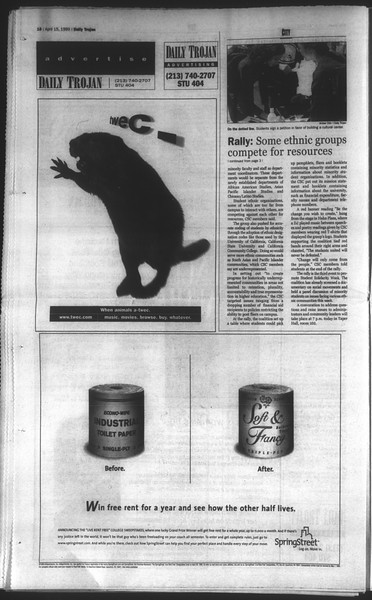 Daily Trojan, Vol. 136, No. 55, April 15, 1999