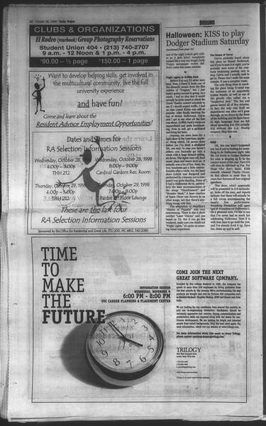 Daily Trojan, Vol. 135, No. 39, October 28, 1998
