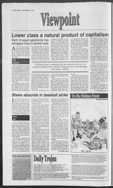 Daily Trojan, Vol. 123, No. 17, September 26, 1994