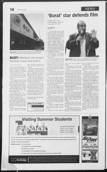 Daily Trojan, Vol. 160, No. 66, April 25, 2007