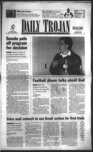 Daily Trojan, Vol. 136, No. 8, January 27, 1999