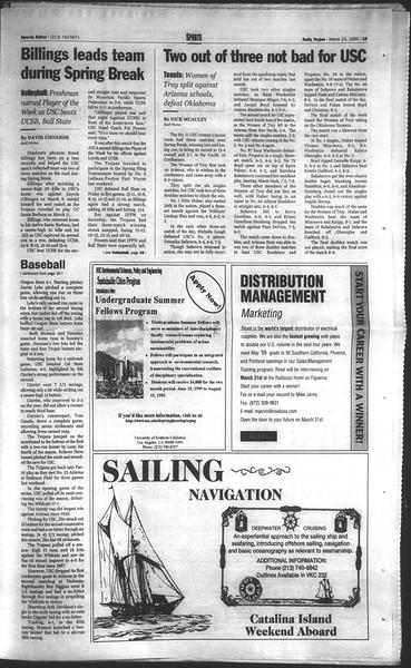 Daily Trojan, Vol. 136, No. 38, March 23, 1999