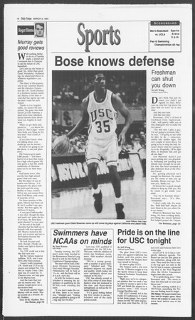 Daily Trojan, Vol. 122, No. 34, March 03, 1994