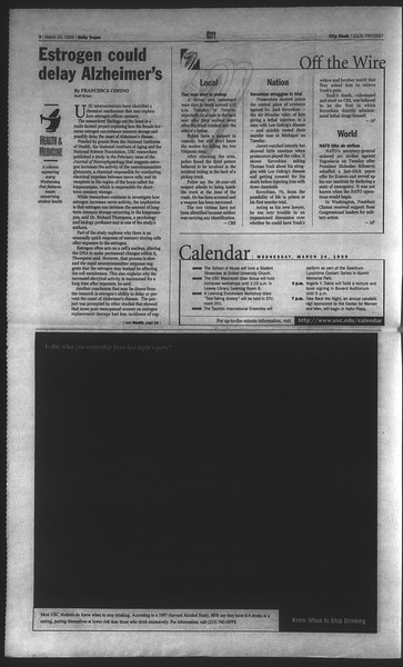Daily Trojan, Vol. 136, No. 39, March 24, 1999