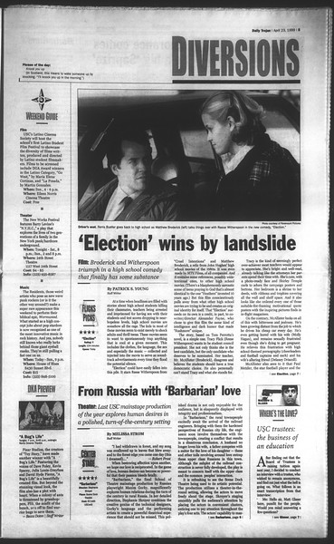 Daily Trojan, Vol. 136, No. 61, April 23, 1999