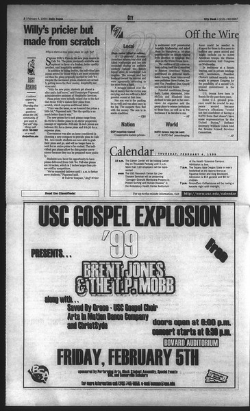 Daily Trojan, Vol. 136, No. 14, February 04, 1999