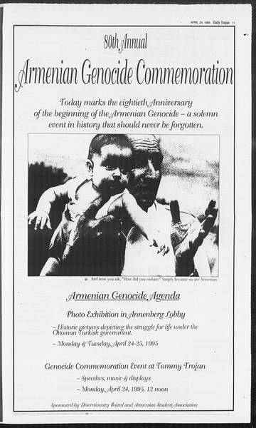 Daily Trojan, Vol. 124, No. 64, April 24, 1995
