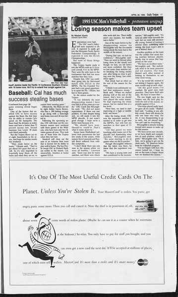 Daily Trojan, Vol. 124, No. 68, April 28, 1995