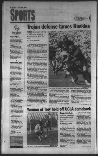 Daily Trojan, Vol. 135, No. 43, November 03, 1998