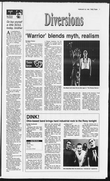 Daily Trojan, Vol. 124, No. 26, February 22, 1995