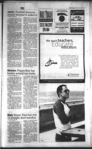 Daily Trojan, Vol. 136, No. 41, March 26, 1999