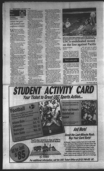 Daily Trojan, Vol. 135, No. 21, October 02, 1998