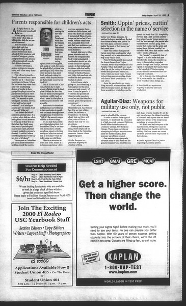 Daily Trojan, Vol. 136, No. 64, April 28, 1999