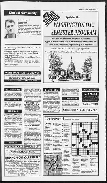 Daily Trojan, Vol. 124, No. 34, March 06, 1995