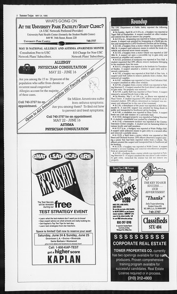 Summer Trojan, Vol. 125, No. 2, May 24, 1995