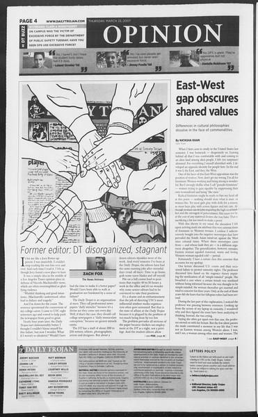 Daily Trojan, Vol. 160, No. 42, March 22, 2007