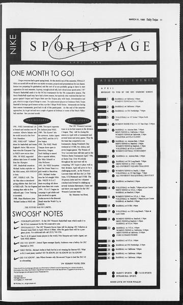 Daily Trojan, Vol. 124, No. 47, March 31, 1995