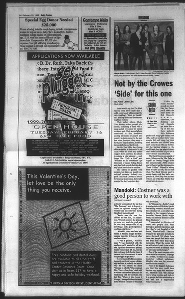 Daily Trojan, Vol. 136, No. 18, February 10, 1999