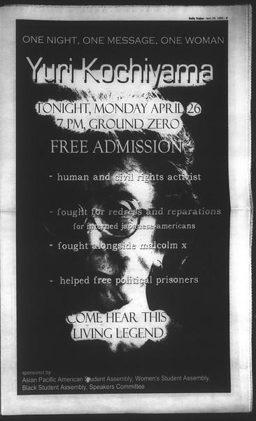 Daily Trojan, Vol. 136, No. 62, April 26, 1999