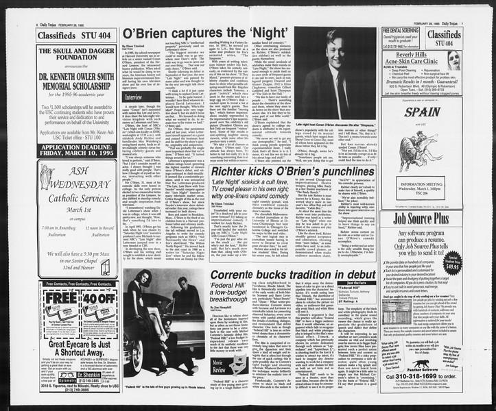 Daily Trojan, Vol. 124, No. 30, February 28, 1995