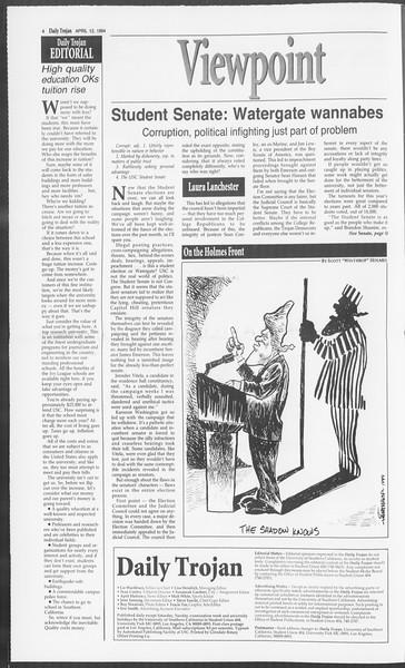 Daily Trojan, Vol. 122, No. 56, April 12, 1994