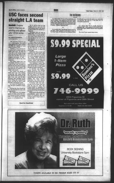 Daily Trojan, Vol. 136, No. 35, March 09, 1999