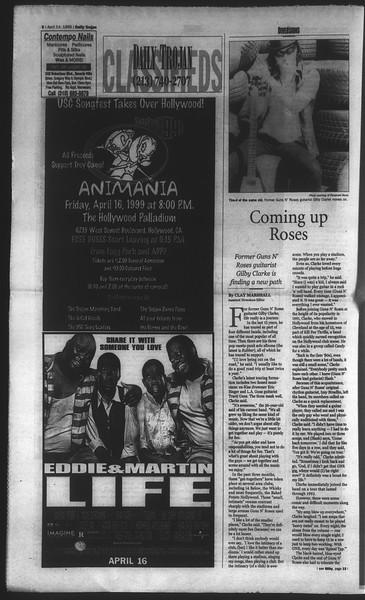 Daily Trojan, Vol. 136, No. 54, April 14, 1999