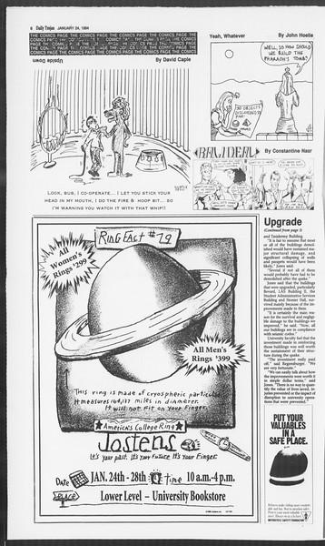 Daily Trojan, Vol. 122, No. 8, January 24, 1994